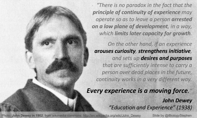 JohnDewey_ExperienceMovingForce_iBiologyStephen