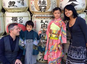 Taylor Family at Shichi-Go-San (7-5-3) Ceremony in Kobe.
