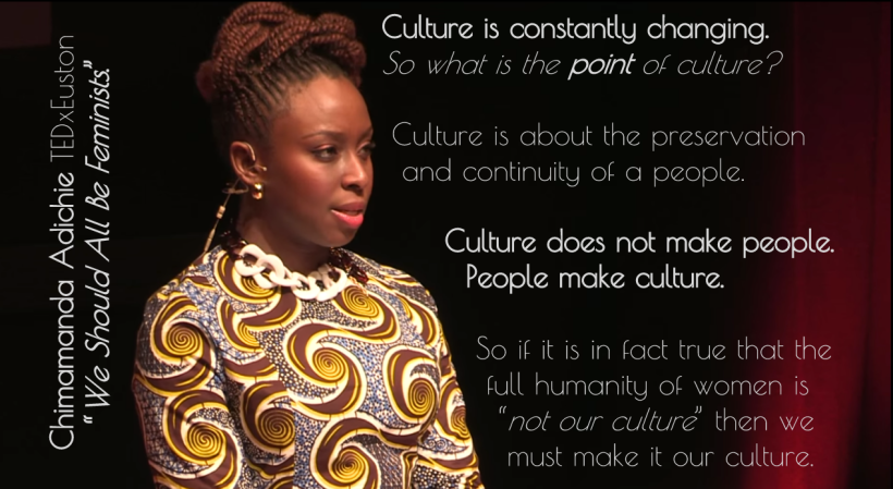 "Chimimanda Adichie: ""We should all be feminists."""